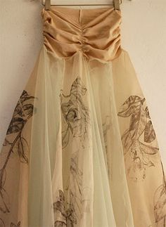 Painted tulle - amazing!