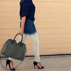 ombre and studded bag