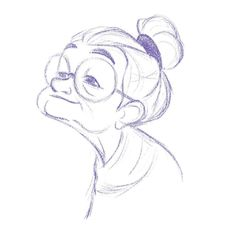 this sketch is so sweet, old lady