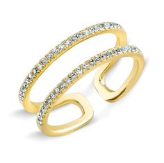 14KT Yellow Gold Diamond Knuckle Ring<br /> <br><br /> Size 3