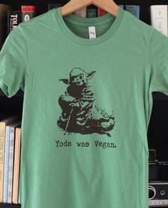 Resultado de imagen para yoda vegan shirt