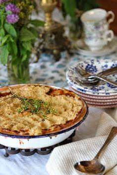Nessa's Family Kitchen :Lemon Rhubarb Crumble