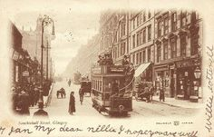 Sauchiehall Street, Glasgow, 1904.   No traffic on this street nowadays.