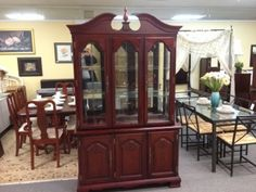 Mahogany Coloured China Cabinet  $580