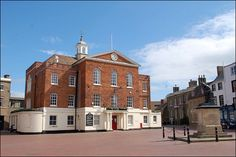 Huntingdon Town Hall by Baz Richardson, via Flickr. Sandwich built this Town Hall for Huntingdon and it really is a magnificent structure with some Class A portraits acquired by his Lordship for the Town.