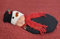 Image of Frosty the Snowman Christmas Hat & Scarf