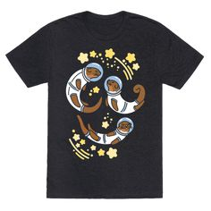 Otters In Space - Otters are really out of this world cute, and they are ready to explore the wonders of outer space! Blast off into otter space with this cute, space otter shirt!