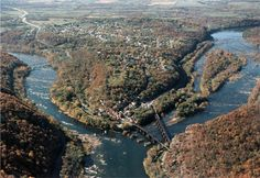Aerial view of Harper's Ferry, West Virginia ◆ USA