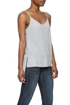 Slinky rib-knit tank top with a hi-low hem and adjustable straps.    Hi-Low Tank by Jack by BB Dakota. Clothing - Tops - Tees & Tanks Clothing - Tops - Sleeveless California