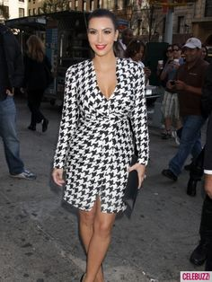 Can I just say, I LOVE HOUNDSTOOTH! And I love this dress!