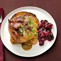 Hot Turkey Burger & Homemade Cranberry Sauce.  EveryDay with Rachel Ray Magazine.