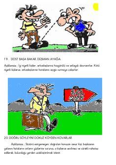 Türkçe resimli atasözleri Learn Turkish, Family Guy, Comics, Fictional Characters, Languages, Student, Google, Idioms, Comic
