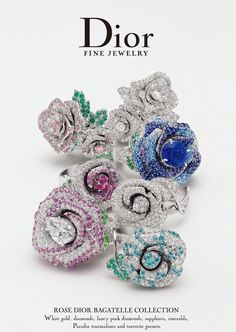 The stunning rings by French designer Victoire de Castellane for DIOR High Jewelry Dior Jewelry, Jewelry Box, Jewelry Rings, Unique Jewelry, Jewelry Accessories, Jewelry Design, Jewelry 2014, Jewelry Ideas, Women Accessories