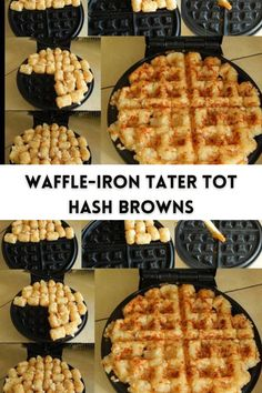 There's no greater let down than mushy hashy browns. Restaurants have a knack for serving pale yet greasy hash browns. Not my jam. I like my hash browns crispy, golden browned, and not greasy. #recipe #waffle
