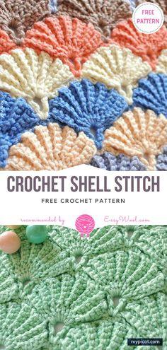 Crochet Shell Stitch Free Pattern | EASYWOOL