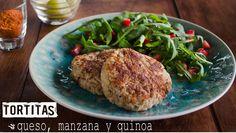 TORTITAS DE QUESO, QUINOA Y MANZANA   Chef Oropeza