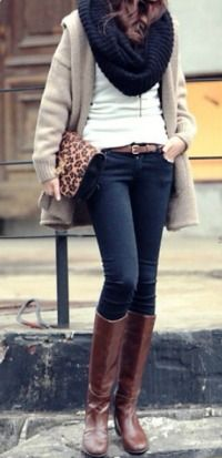 brown knee high boots