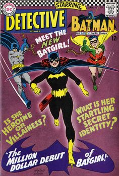 DC History— Barbara Gordon was Introduced twice to the DC world. In 1967, the librarian wore a Batgirl costume to a masquerade ball and ended up awakening the crime fighter inside when Killer Month tried to end Bruce Wayne's life. In 1989, Babs joined the Suicide Squad as the Oracle after suffering at the hands of Joker and became the go-to gal for superheroes everywhere.