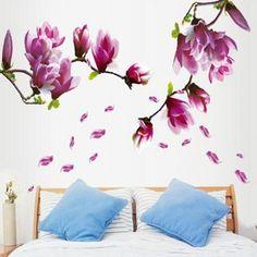 Chic Elegant Petal Pattern Home Decoration Decorative Wall Stickers