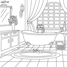 The sneak peek for the next Gift of The Day tomorrow. Do you like this one? #bathroom ••••••••••• Don't forget to check it out tomorrow and show us your creative ideas, color with Color Therapy: http://www.apple.co/1Mgt7E5 ••••••••••• #happycoloring #giftoftheday #gotd #colortherapyapp #coloring #adultcoloringbook #adultcolouringbook #colorfy #colorfyapp #recolor #recolorapp #coloring #coloringmasterpiece #coloringbook #coloringforadults