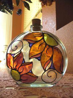 Trippin' Daisy Amber Brick Round Decorative by vsilcoxdesigns
