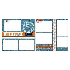 Susan's Scrapbook Shack LLC by SusansScrapbookShack on Etsy Beach Scrapbook Layouts, 12x12 Scrapbook, Scrapbook Sketches, Digital Scrapbooking, Scrapbooking Layouts, Volleyball Crafts, Sports Page, Paper Artist, Creative Memories