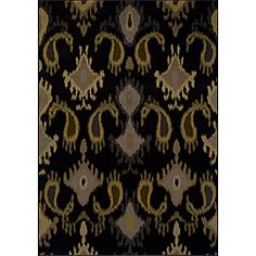 @Overstock - This rug offers a fresh new look in shades of black, grey and gold. Various yarn textures add visual interest and gives this rug a luxurious feel not usually found in an easy-to-care for affordable, machine-made rug.   http://www.overstock.com/Home-Garden/Alyssa-Black-Grey-Transitional-Area-Rug-78-x-1010/6650050/product.html?CID=214117 $254.14