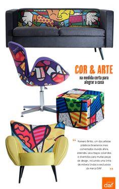 O encanto da arte de Romero Britto em móveis. Veja mais: http://www.casadevalentina.com.br/blog/materia/m-veis-e-obras-de-arte-uma-coisa-s.html  #decor #interior #design #romero #britto #arte #decoracao #moveis #casadevalentina