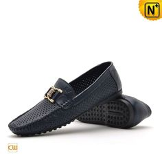 Fashion black and blue tods loafers shoes for men in breathable hole cowhide leather upper, shop this casual tods shoes in rubber outsole and pigskin insole at cwmalls.com