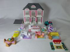 Vintage Lewis Galoob My Pretty Doll House Polly Pocket style House Furniture #LewisGaloob #HousesFurniture