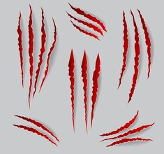 Vector cat claws marks set by MicroOne on @creativemarket