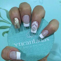 Uñas dorado Pretty Nails, Fun Nails, French Polish, Fall Nail Designs, Nail Technician, Manicure And Pedicure, Opi, Nail Art, Ideas