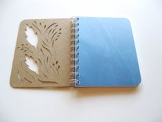 Nature Inspired Sketchbook Blue Ombre Feather by thenaturewalk, $14.00