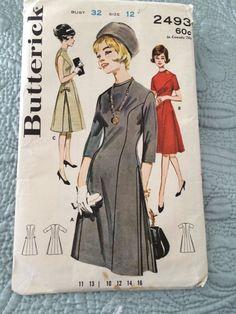 http://www.ebay.com/itm/Vintage-Sewing-Pattern-Butterick-2493-Jewel-Neck-Princess-Dress-side-Pleats-12-/400882746739?pt=LH_DefaultDomain_0