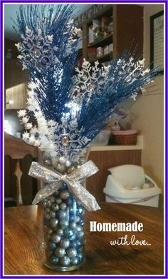 How To Throw A Magical Winter Wonderland Party Party . Wedding Centerpiece Manzanita Tree Branches Gold By . How To Create A Stunning Winter Wonderland Birthday Party . Home Design Ideas Winter Wonderland Decorations, Winter Wonderland Christmas, Winter Wonderland Wedding, Silver Christmas Decorations, Holiday Centerpieces, Christmas Crafts, Holiday Decor, Christmas Christmas, Homemade Centerpieces