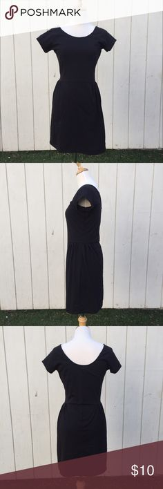 """Cotton On Black dress Slim fit jersey dress with gathers on the sides of the waist. The back is deep cut. No lining. It's XS, but should fit S too. In great condition! 62%Polyester/33%Cotton/5%Elastane.   **Torso size: Height about 5'7"""", chest 34, waist 25, hip 35, shoulder to shoulder 15 1/2** Cotton On Dresses Mini"""