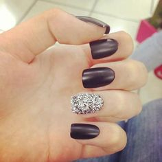 Black And Glitter Nails...