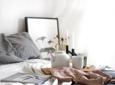 Hygge bright bed room