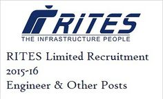 RITES Limited Recruitment 2015-16 for 101 Engineer & Technical Asst Posts