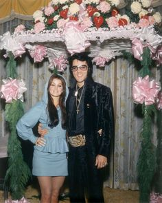 Elvis as best man at buddy's wedding at the Las Vegas Hilton in 1970.  He brought a large belt buckle and Priscilla. Las Vegas Hilton opened a year earlier as the International Hotel, 3000 Paradise Road. Elvis lived there while playing over 50 consecutive sold out shows at the hotel, breaking all Vegas attendance records, and his own. ✿❀