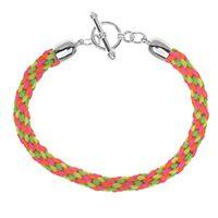 #DIY #PAP Neon Kumihimo Bracelet - com Chinese Knotting Cord de 1,2 mm