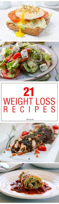 21 Weight Loss Recipes for dropping the pounds! #SkinnyMs