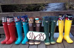 SLUGS Fleece Rain Boot Liners Black with a Houndstooth Pattern Cuff, Spring Fashion, Gardening Style, Fleece Socks (Sm/Med Boot) Fleece Socks, Mens Fleece, Short Rain Boots, Hunter Rain Boots, Boot Cuffs, Boot Socks, Rain Boot Liners, Tall Girl Fashion, Tall Socks