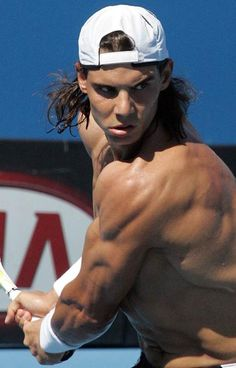 Rafael Nadal is such a beast on the tennis court! He's so good lookin! Can you say HOTT!(;