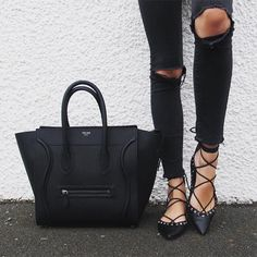 Zara black tie-up leather ballerinas,new collection, ref.5301/001