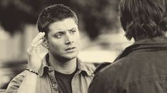 """[gif] """"What are you doing waiting out here anyway"""" - Sam  """"Our room is on the fourth floor...it's high."""" - Dean  #Supernatural  #YellowFever 4.06"""