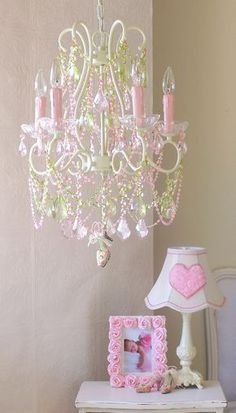 Color of the week pink its not just for little girls anymore 5 light diva chandelier with pink green crystals i love this chandelier for my girls room aloadofball Gallery