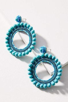 Anthropologie Fountain Hooped Post Earrings #ad