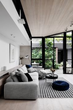 Awesome 36 Best Minimalist Living Room Interior Ideas That You Can Try Now Living Room Interior, Home Living Room, Home Interior Design, Living Room Designs, Interior Architecture, Living Room Decor, Living Spaces, Interior Colors, Interior Ideas