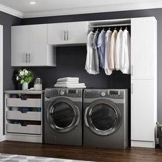 Modifi Horizon 105 in. W White Laundry Cabinet The Home Depot Horizon 105 in. W White Laundry Cabinet Kit The post Modifi Horizon 105 in. W White Laundry Cabinet The Home Depot appeared first on Design Ideas. Modern Laundry Rooms, Laundry Room Layouts, Laundry Room Remodel, White Laundry Rooms, Laundry Room Cabinets, Laundry Room Organization, Organization Ideas, Storage Ideas, Laundry Storage